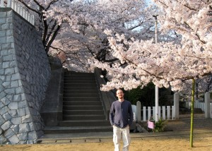 Myself in Japan during cherry blossom season, really as unbelievable as its reputation.